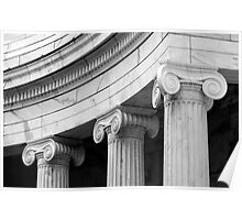 Classical  marble Columns Poster