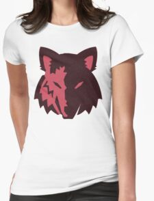 Crosshatch Wolf Emblem - Red Womens Fitted T-Shirt