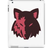 Crosshatch Wolf Emblem - Red iPad Case/Skin