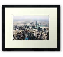 Dubai view from above  Framed Print