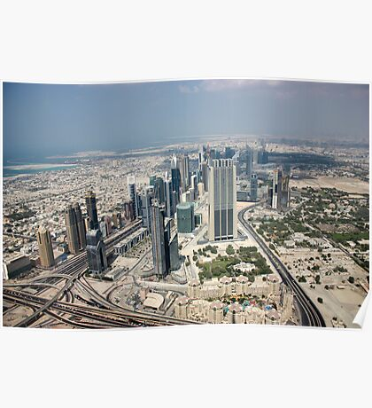 Dubai view from above  Poster