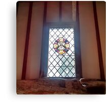 Stained Glass Window 2.0 - Anne of Cleaves House Canvas Print
