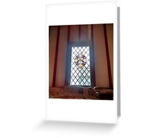 Stained Glass Window 2.0 - Anne of Cleaves House Greeting Card