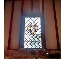 Stained Glass Window 2.0 - Anne of Cleaves House Photographic Print
