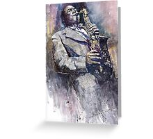 Jazz Saxophonist Charlie Parker Greeting Card