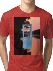 The portal to zen living Tri-blend T-Shirt