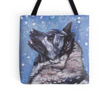 Norwegian Elkhound Fine Art Painting Tote Bag