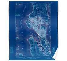 USGS Topo Map Washington State WA Seattle Special 243628 1909 62500 Inverted Poster