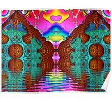 M3D: Mahogany Lake Sunset (UF0586) Poster