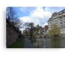 Walking in Strasbourg Canvas Print