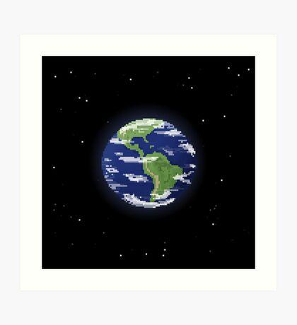 Pixel Earth Art Print