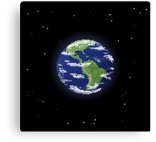 Pixel Earth Canvas Print