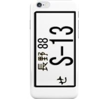 S-13 JAPAN NUMBER PLATE iPhone Case/Skin