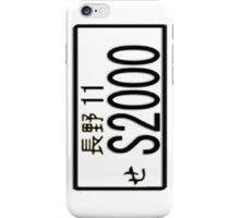 S2000 JAPAN NUMBER PLATE iPhone Case/Skin