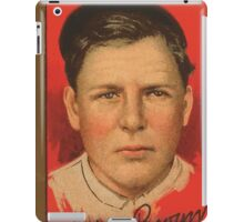 Benjamin K Edwards Collection Mordecai Brown Chicago Cubs baseball card portrait iPad Case/Skin