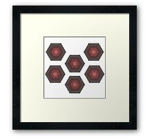 Hex - Incomplete - Red Framed Print