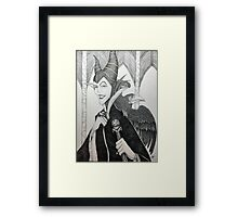 Maleficent - Pen and Ink Framed Print