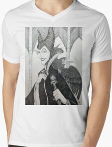 Maleficent - Pen and Ink Mens V-Neck T-Shirt