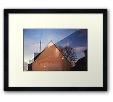 Blame It On the Satelite Framed Print