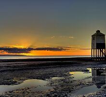Burnham On Sea Lighthouse at Sunset by Sjthomas