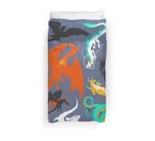 A Flight with Dragons Duvet Cover