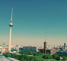 The Fernsehturm towering over Berlin  by hideyourarms
