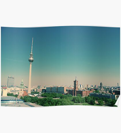 The Fernsehturm towering over Berlin  Poster