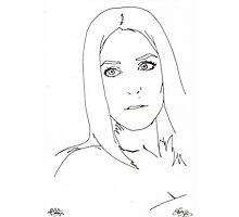gillian anderson pen out line Photographic Print