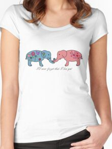 An elephant never forgets. Women's Fitted Scoop T-Shirt
