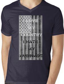 Love & Hate  Mens V-Neck T-Shirt