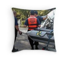 Rescue Is At Hand Throw Pillow