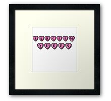 sarcasm queen hate hearts Framed Print