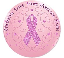 Breast Cancer Pink Ribbon Of Hope Photographic Print