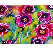Abstract Poppies, watercolor Photographic Print