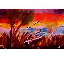 Loose landscape, watercolor Photographic Print