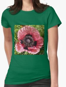 Poppy Macro Womens Fitted T-Shirt