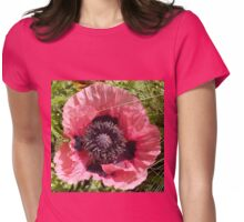 Poppy Macro Womens Fitted T-Shirt