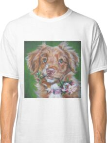 Nova Scotia Duck Tolling Retriever Fine Art Painting Classic T-Shirt