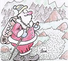 Hiking Santa. by johnlumley