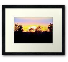 A Powerful Sunset Framed Print