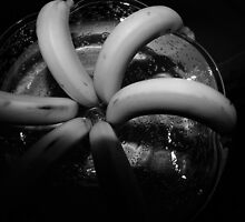 Bananas in Black and White, Still Life by Kent Nickell