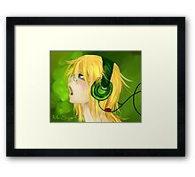 Sing it out Framed Print