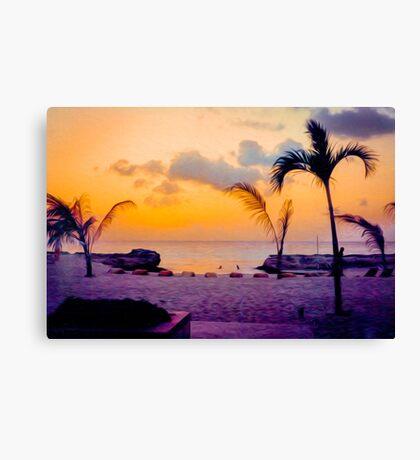Cozumel Beach Sunrise Canvas Print