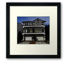 010212 031 1 oil our shore house minimum Framed Print
