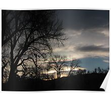 January Sunset (2) - Colorado Springs Poster