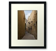 The Silent City - Mdina, the Ancient Capital of Malta Framed Print