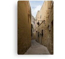 The Silent City - Mdina, the Ancient Capital of Malta Canvas Print
