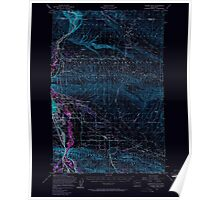 USGS Topo Map Washington State WA Yakima East 244814 1953 62500 Inverted Poster