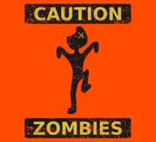 Caution, Zombies. (Yellow) by Elton McManus