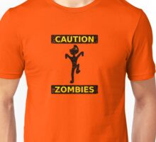 Caution, Zombies. (Yellow) Unisex T-Shirt